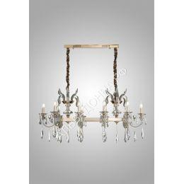 Люстра Alvadonna Crystal 9489-10 PL перламутр