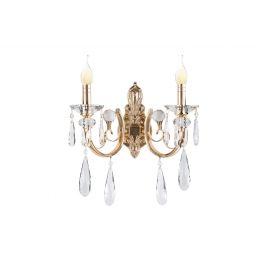 Бра Alvadonna Crystal 2E14 L37*H32*SP19 золото